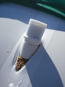 Placing a wireless sensor in a grain bag