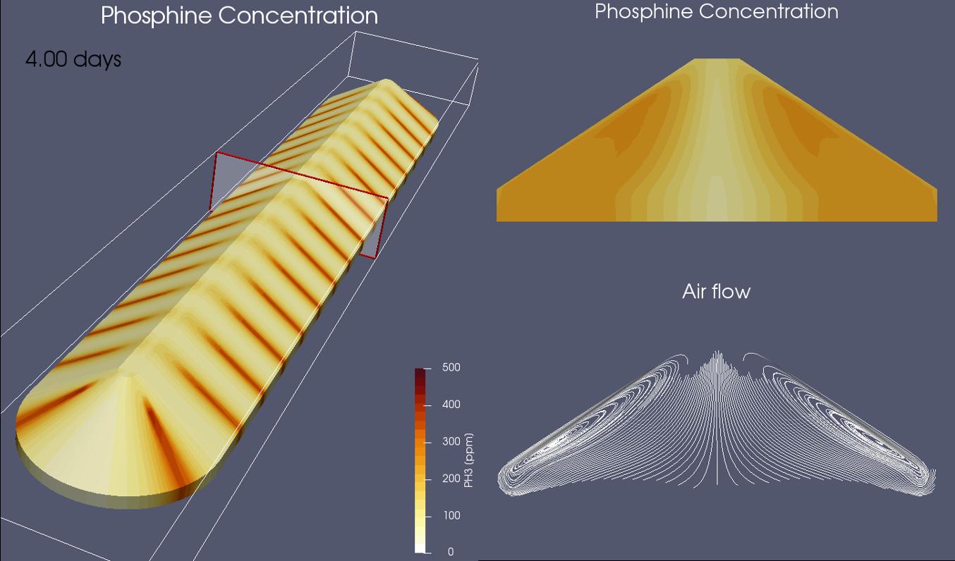 bunker fumigation simulation